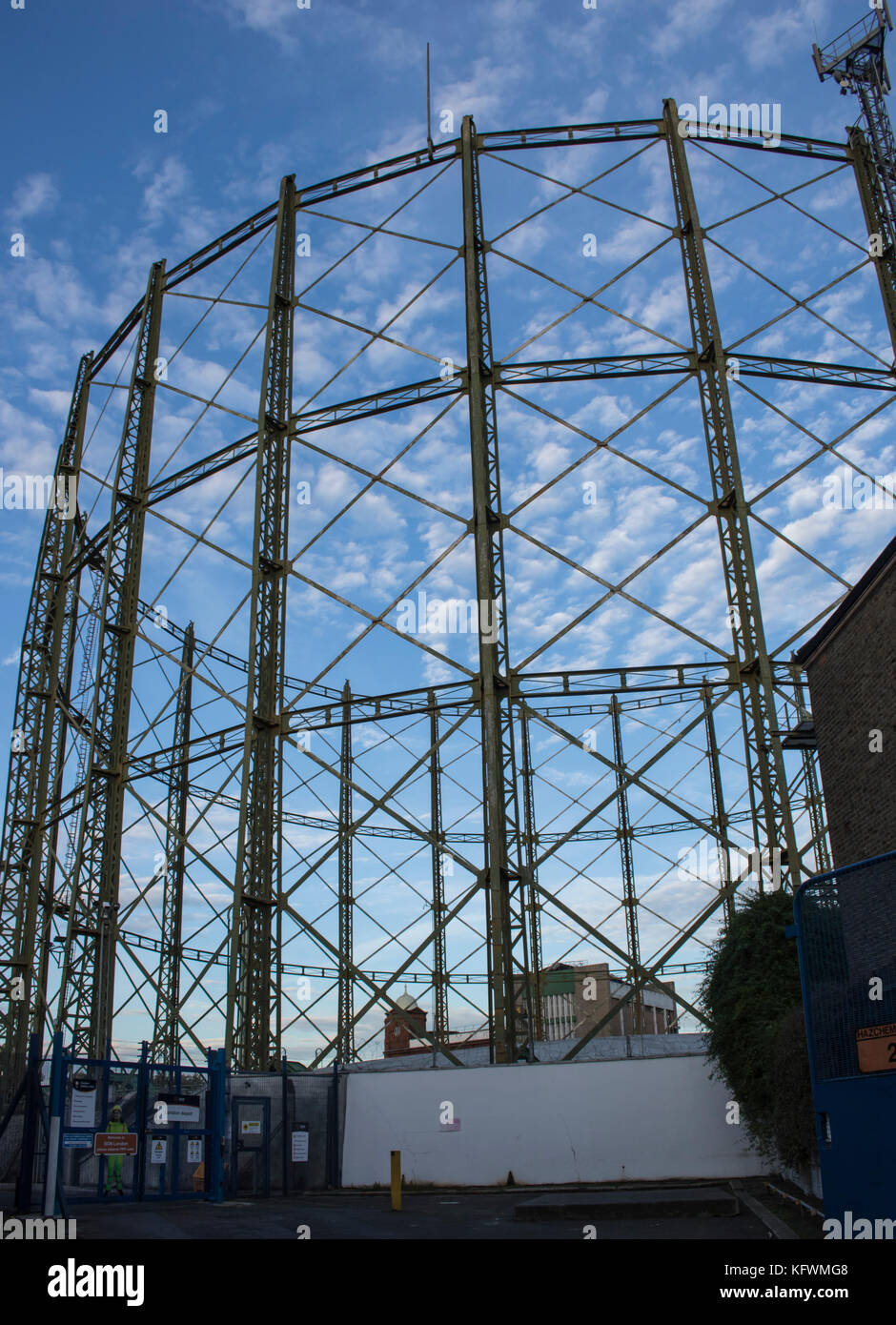 Gas works at Kennington Oval London England - Stock Image