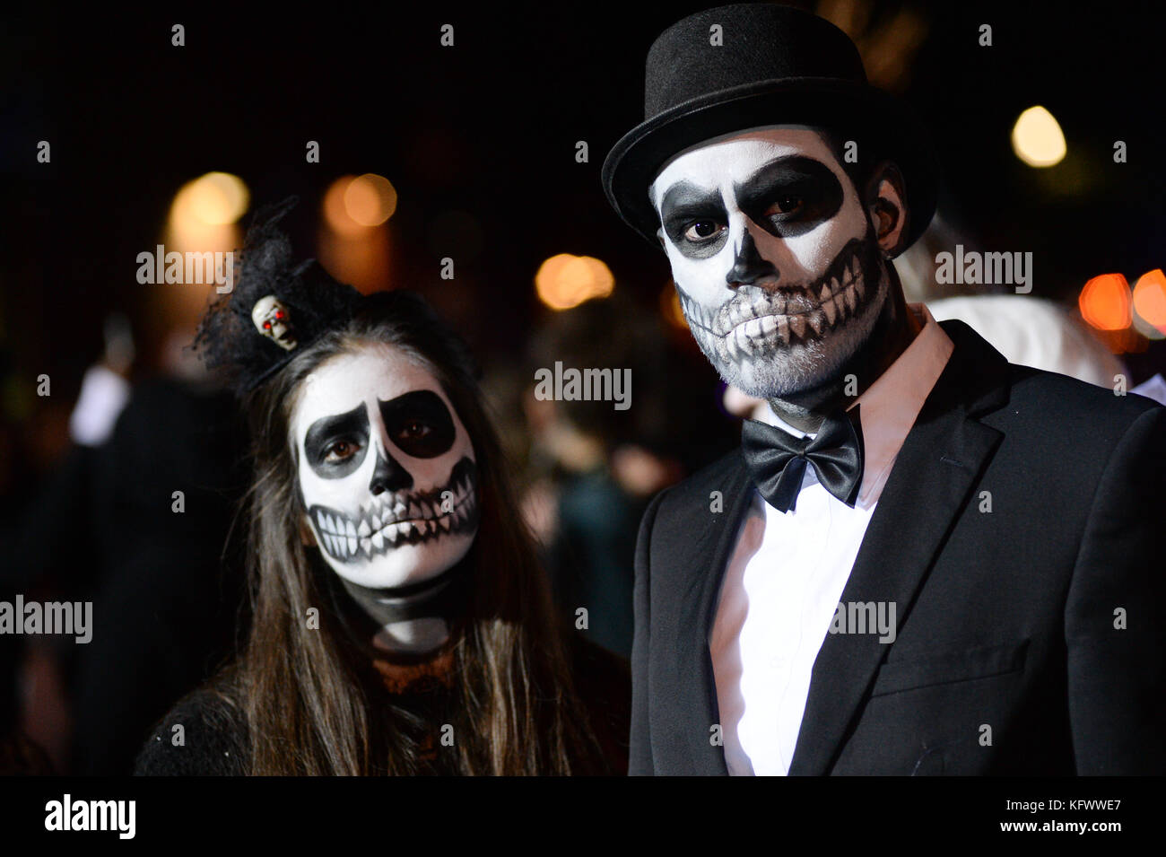 Participants wearing different costumes march during Halloween Parade in Lower Manhattan of New York United State on October 31 2017. credit Erik ...  sc 1 st  Alamy & Participants wearing different costumes march during Halloween ...