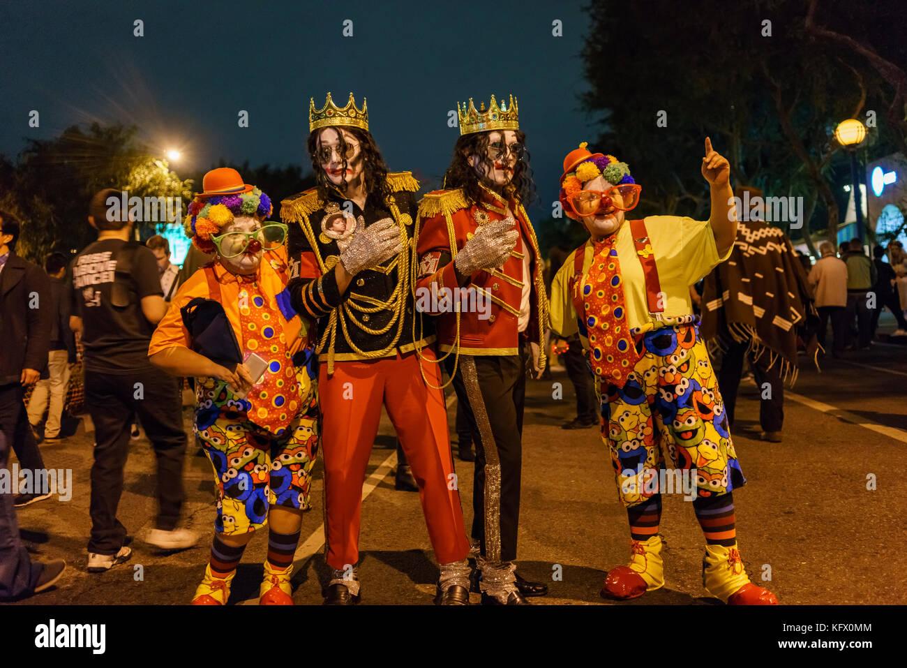west hollywood halloween carnaval stock photos & west hollywood