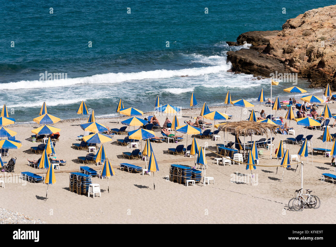 Seaside resort of Sisi close to Malia, Crete, Greece Stock Photo