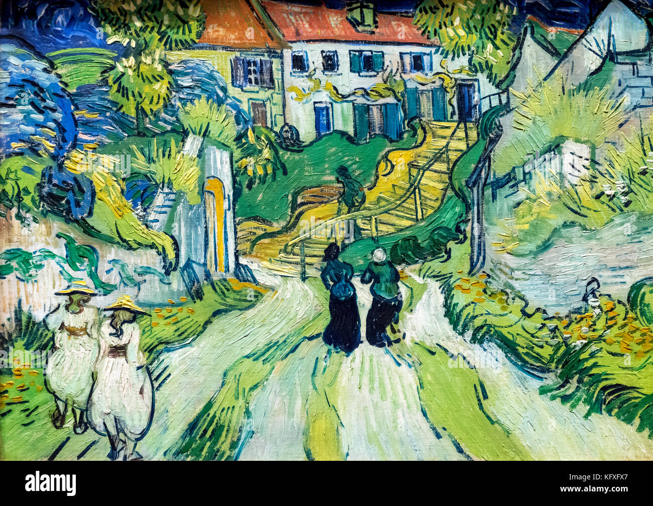 Stairway at Auvers by Vincent van Gogh (1853-1890), oil on canvas, 1890 - Stock Image