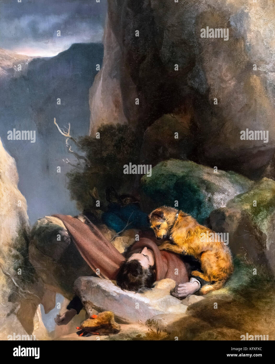 Attachment by Sir Edwin Henry Landseer (1802-1873), oil on canvas, 1829 - Stock Image