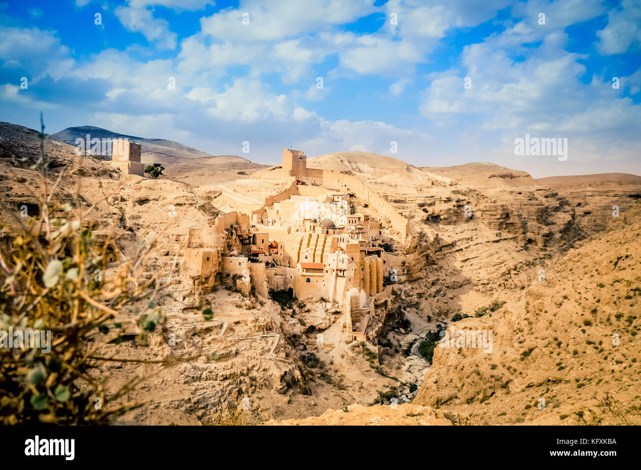 The Great Lavra of St. Sabbas the Sanctified (Mar Saba) - Stock Image