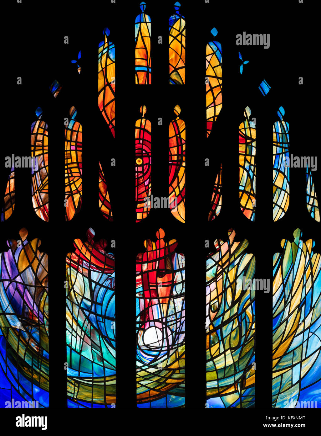 The Healing Window, Manchester Cathedral, United Kingdom - Stock Image