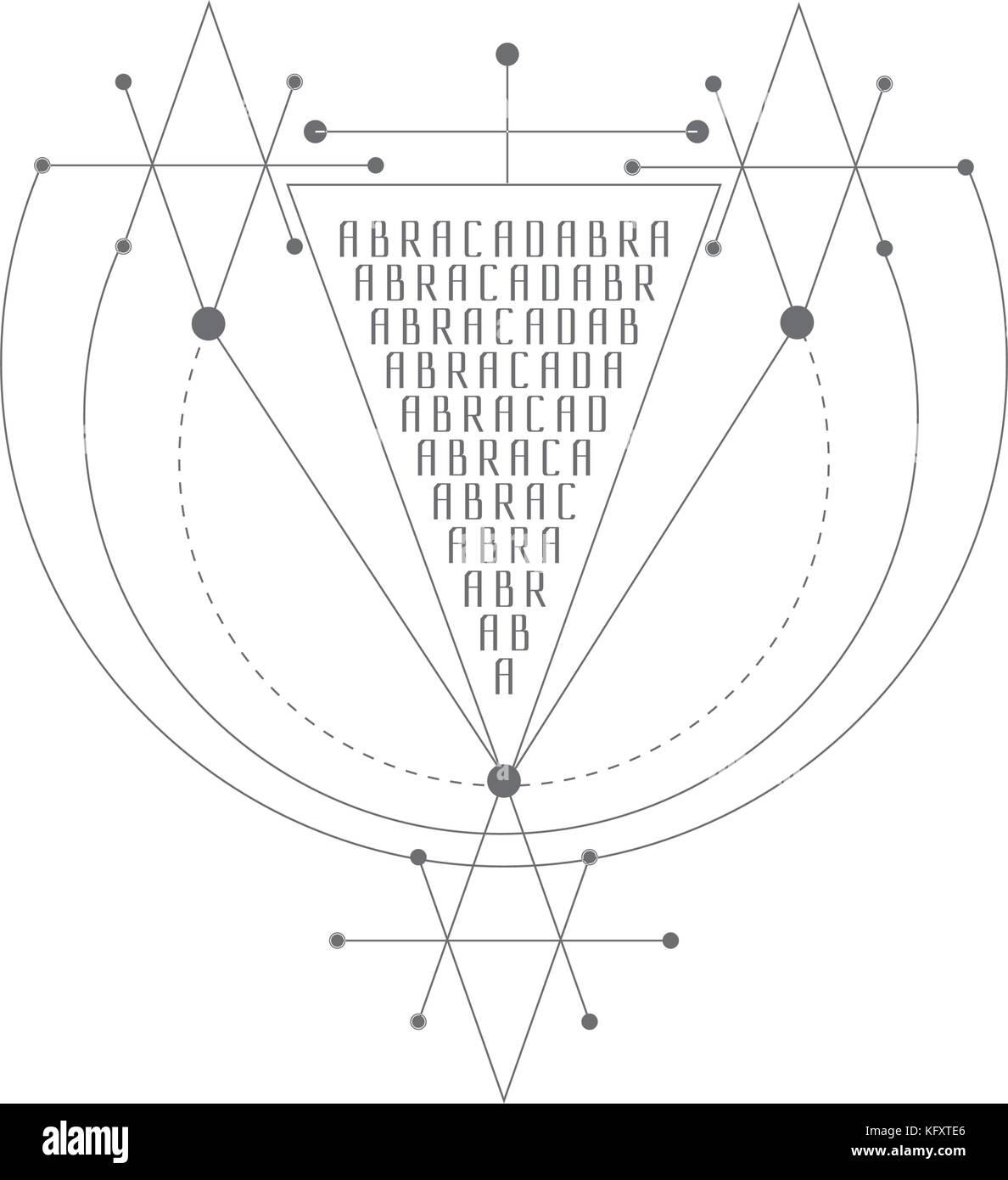 2e6bf1b34dcc6 Vector magic alchemy symbol. geometric logo for spirituality, occultism,  tattoo art and print