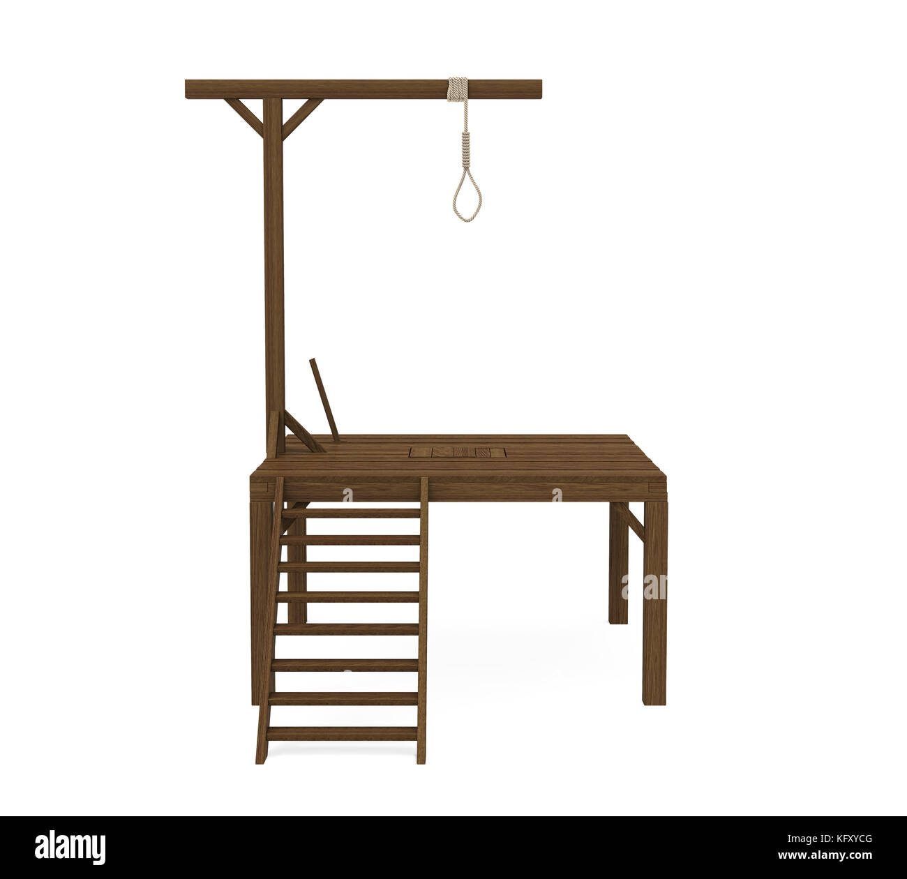Gallows Isolated Stock Photo