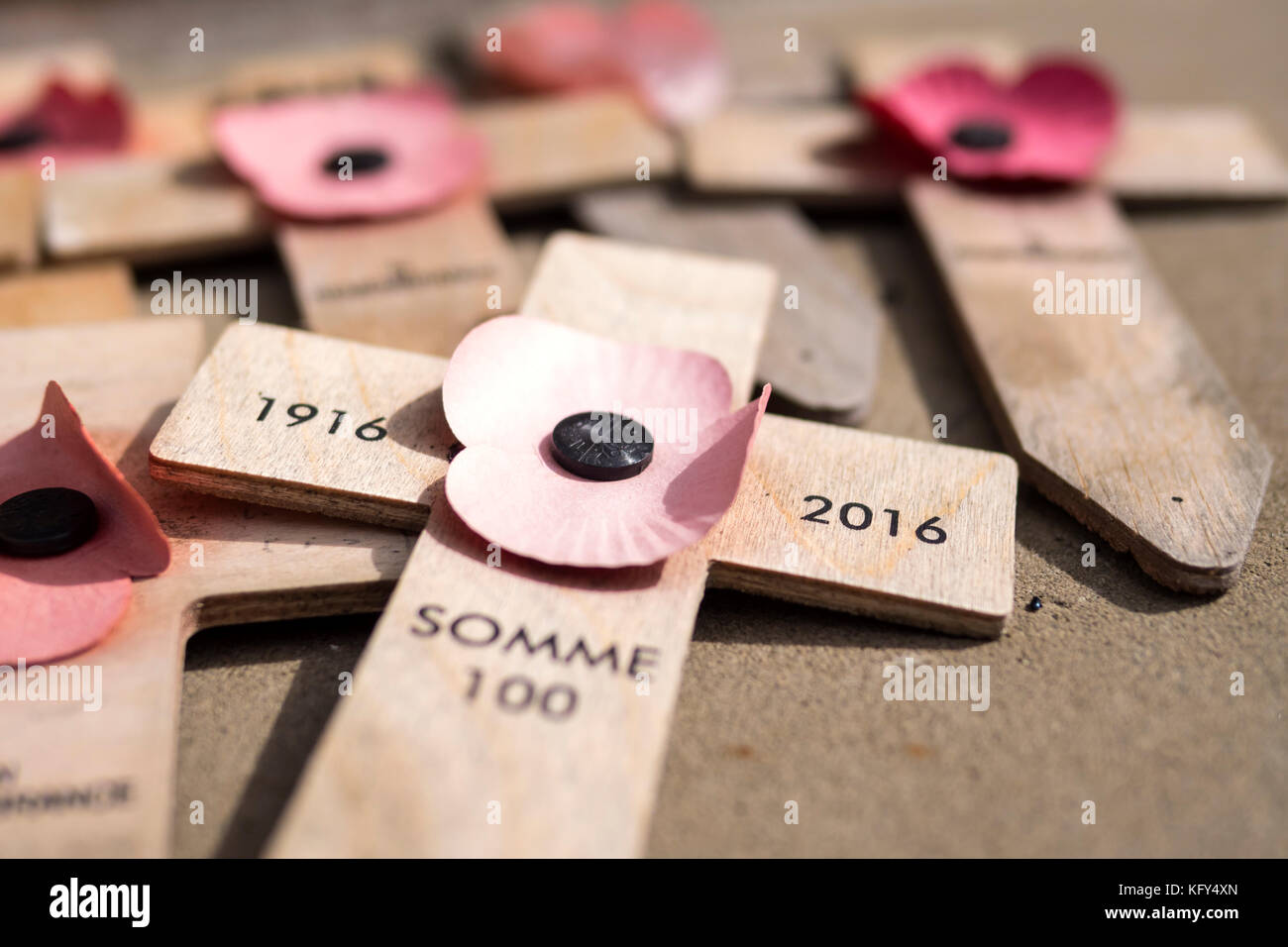 Remembering the Great War - Stock Image