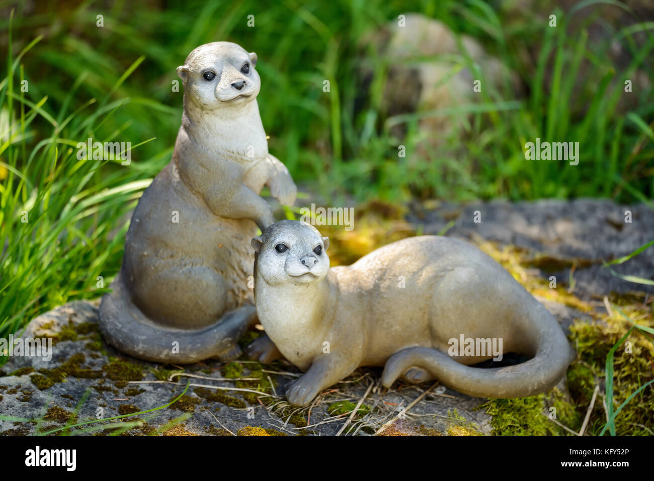 Beau Decorative Mongoose Or Suricate Animal Garden Figurines   Stock Image