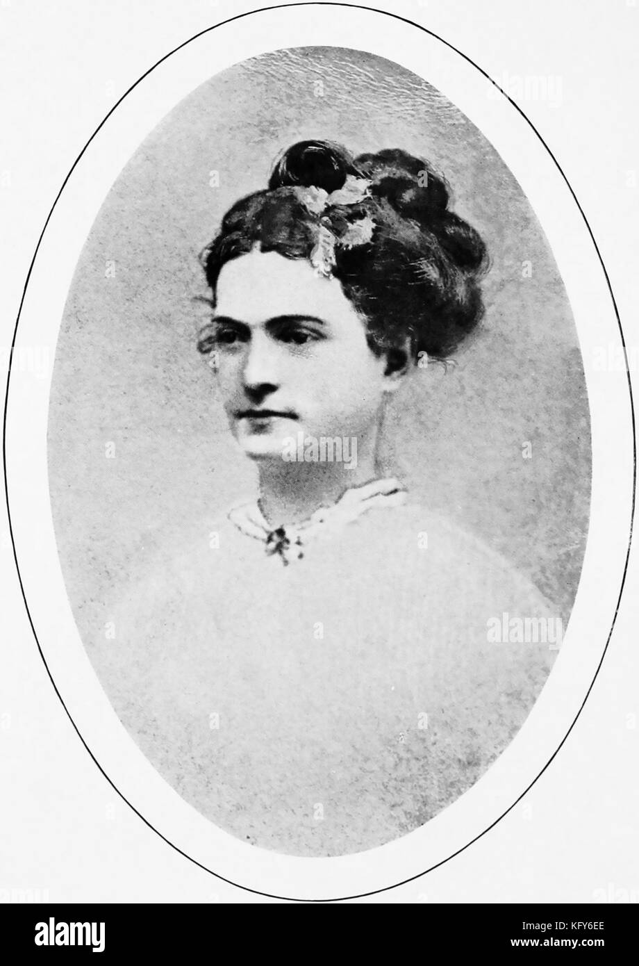 ELIZA FRANCES ANDREWS (1840-1931) American popular writer  and novelist on botany, science, education in an 1865 - Stock Image
