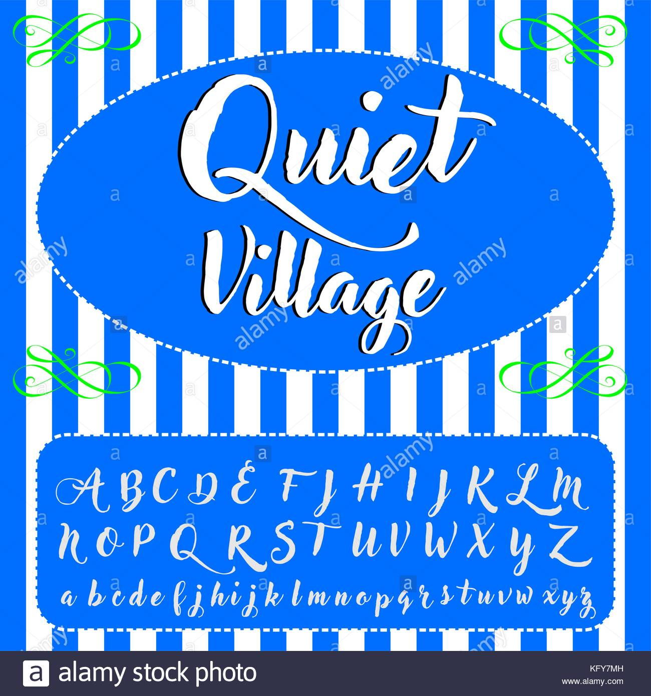 Vector Set Of Hand Drawn Abc Alphabet Letters Fonts Named Quiet