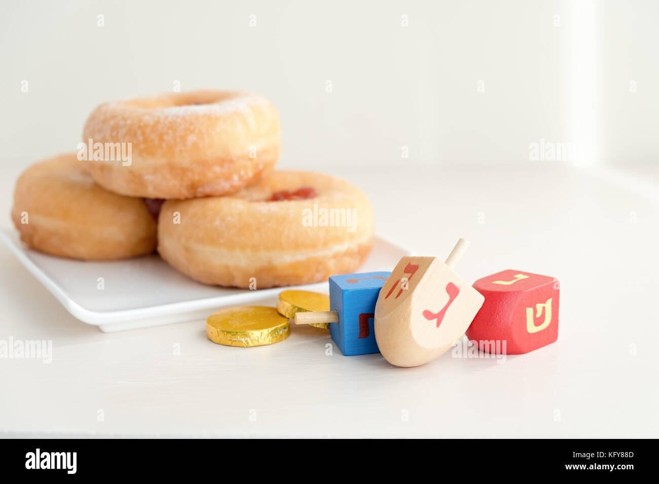 Jewish holiday Hanukkah Stock Photo