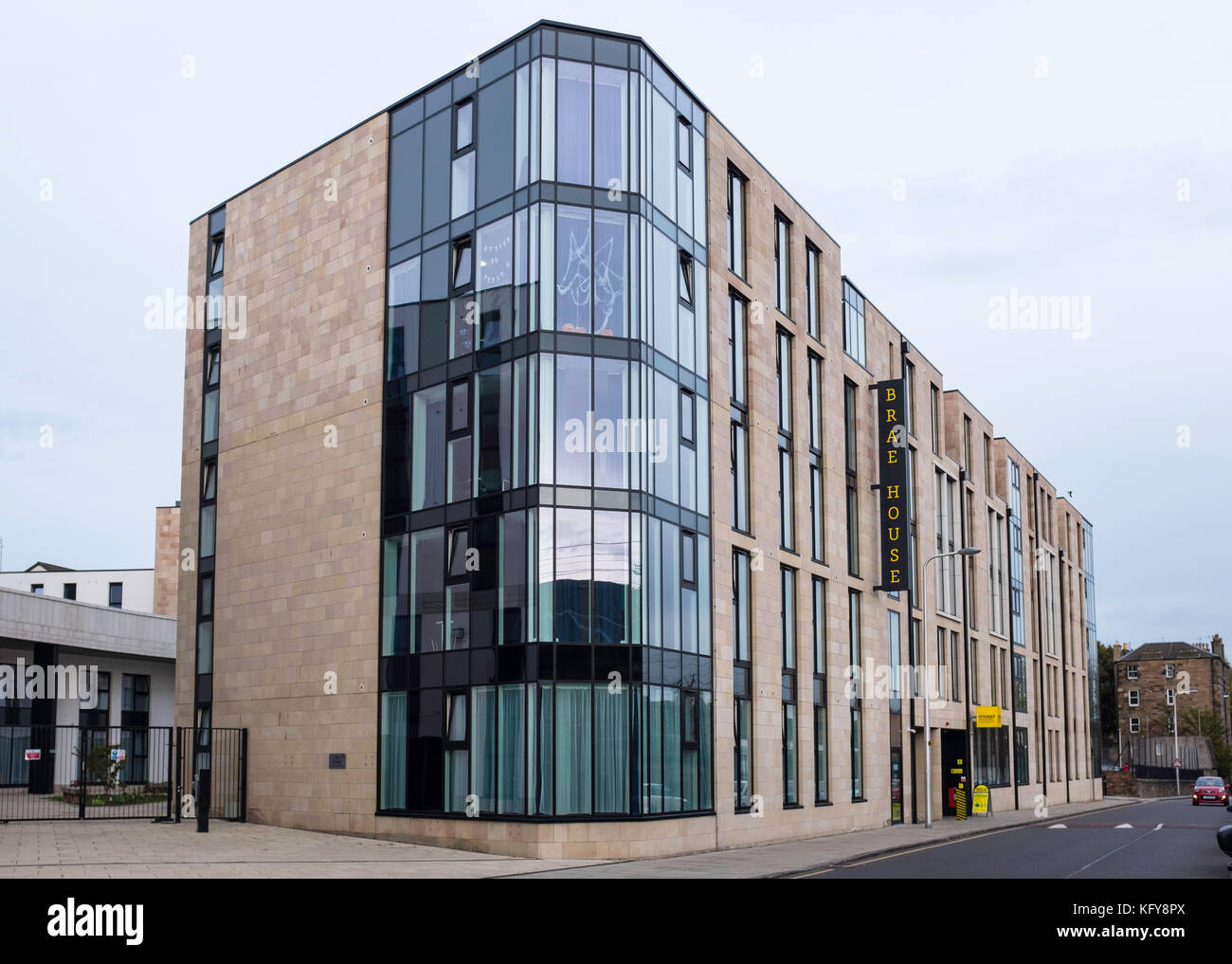 Brae House operated by The Student Housing Company is a block of apartments for students in central Edinburgh, Scotland, - Stock Image