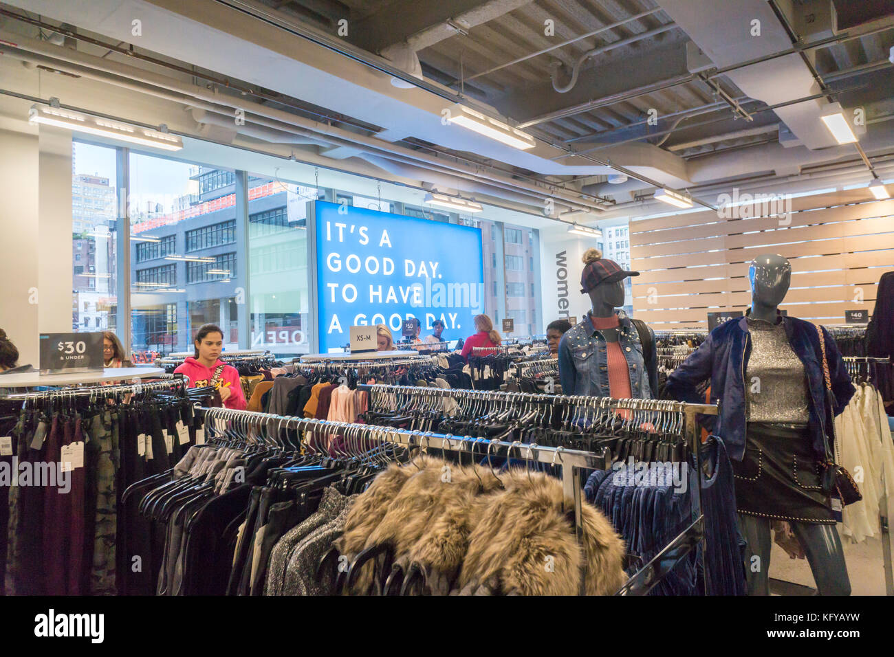 74ab393ad Excited shoppers crowd the new Nordstrom Rack off-price store in the Herald  Square area