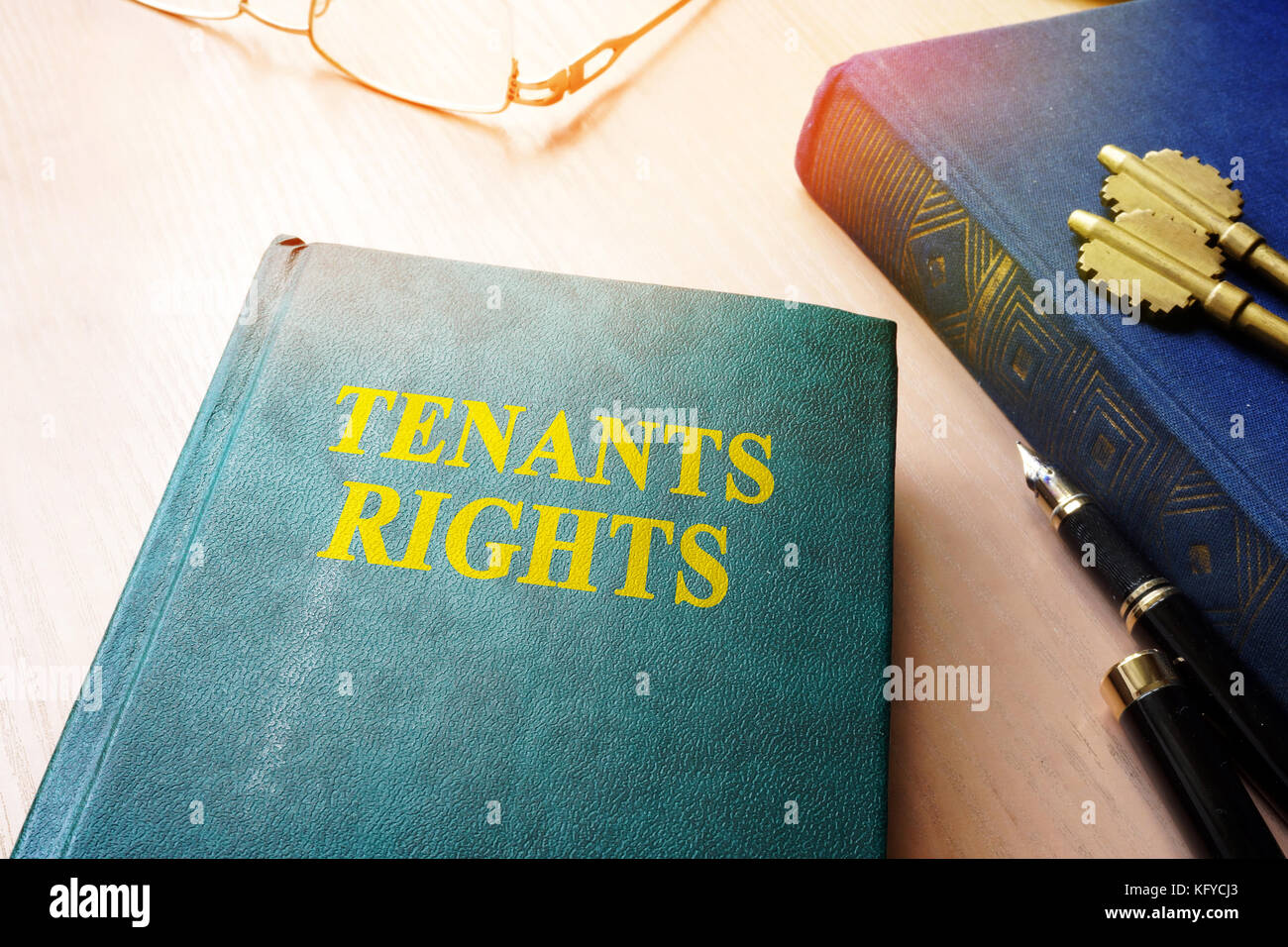 Tenants rights and keys from apartments. - Stock Image