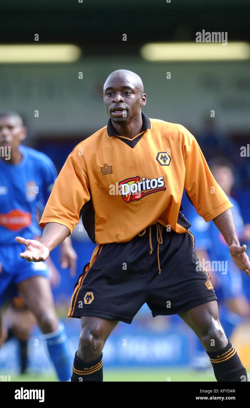 Footballer Shaun Newton Wolverhampton Wanderers 27/7/2002 - Stock Image