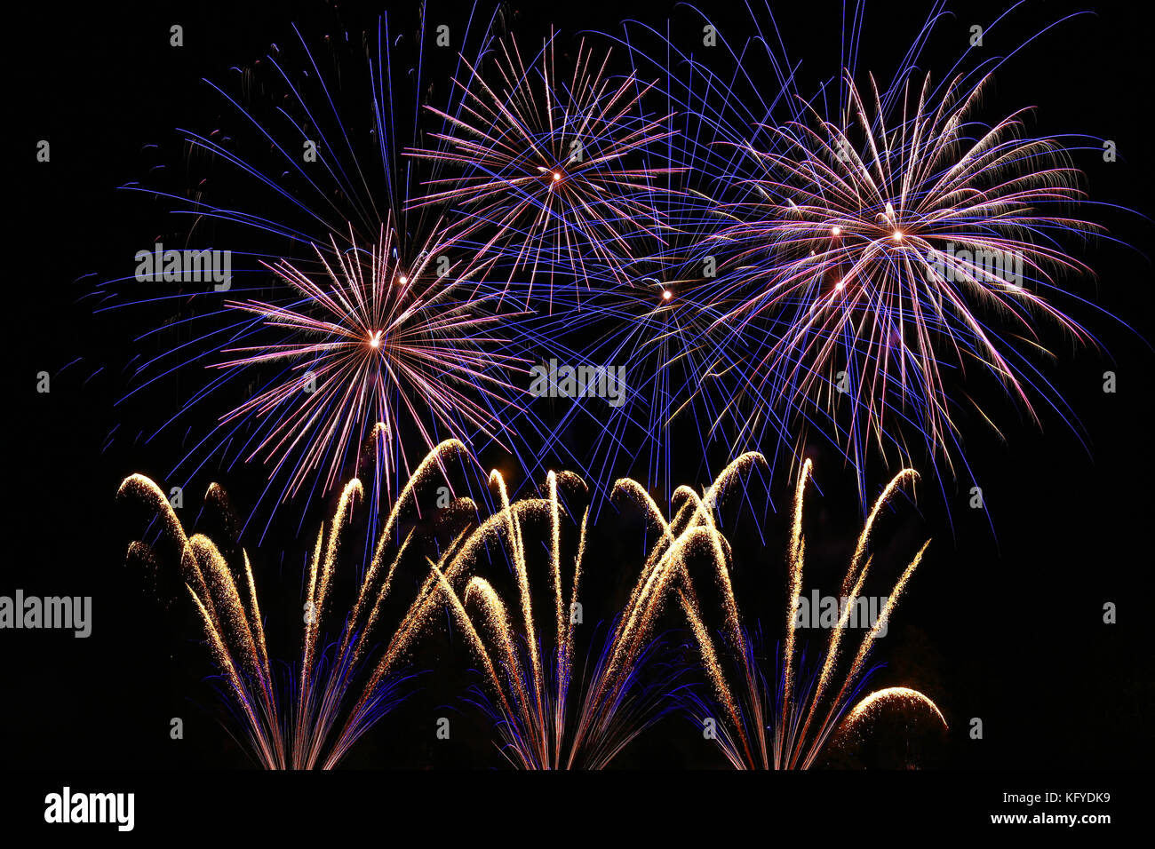 Bonfire Night (Guy Fawkes Night) - fireworks display on 5th November in Great Britain Stock Photo