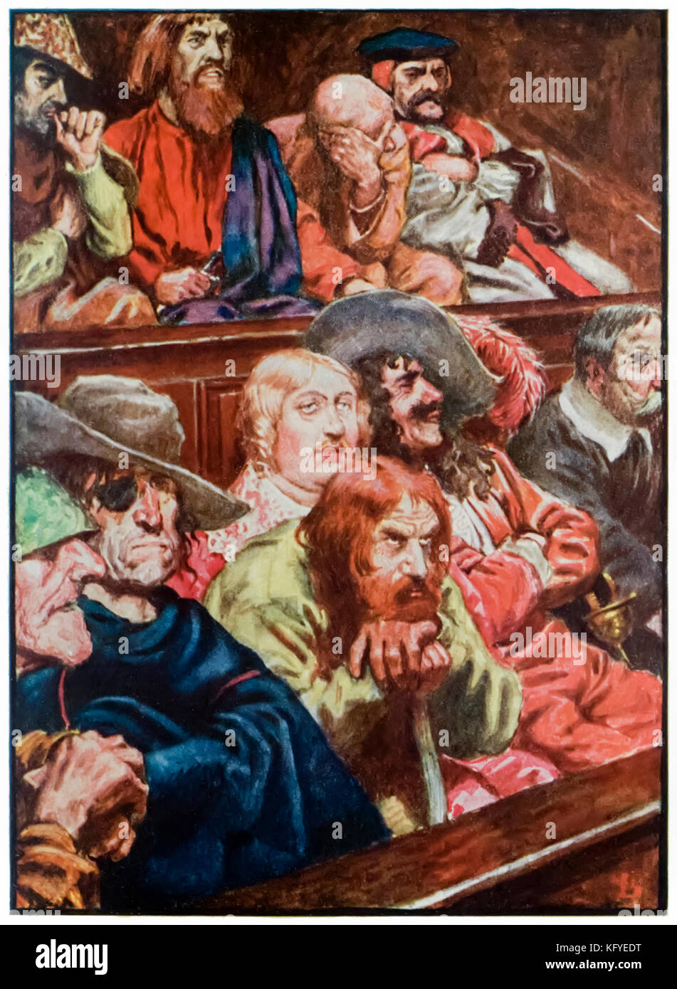 """""""The Jury"""" from 'The Pilgrim's Progress From This World, To That Which Is To Come' by John Bunyan (1628-1688). Illustration - Stock Image"""