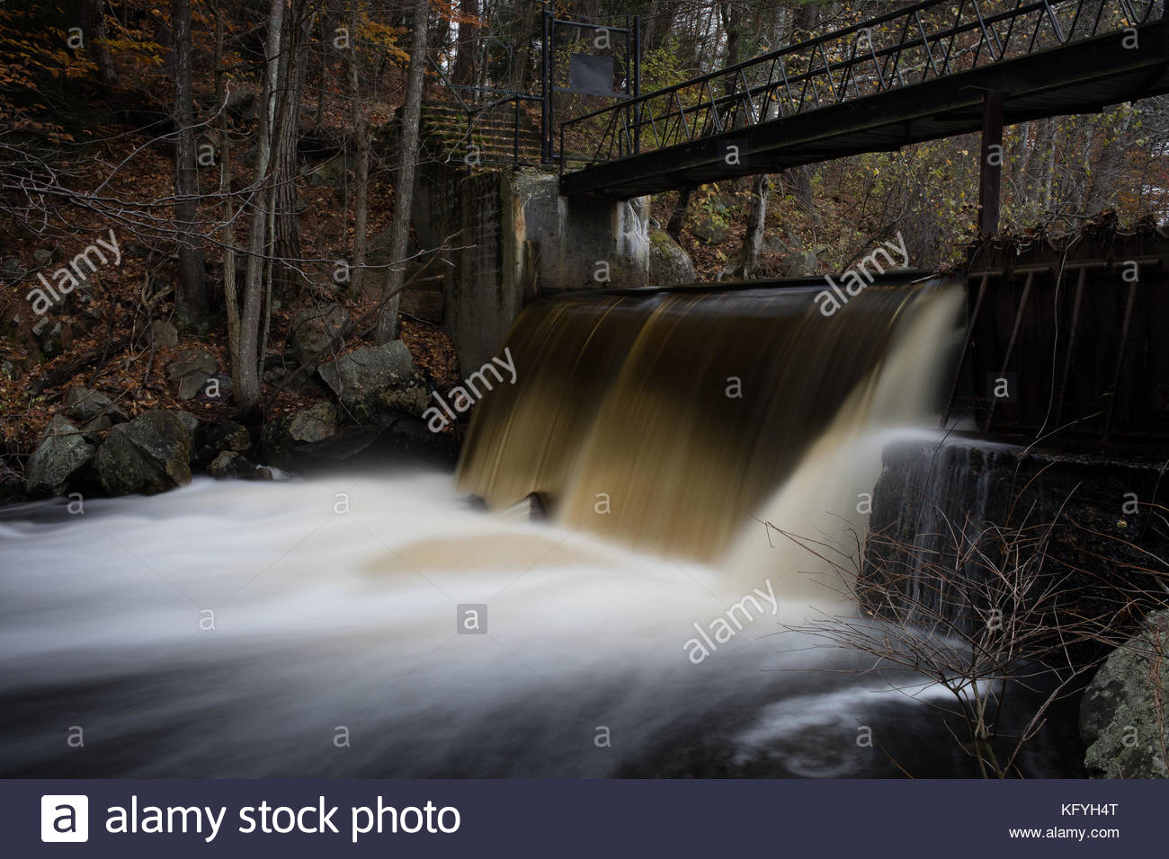 Noone Falls on the Contoocook River, Peterborough, New Hampshire - Stock Image