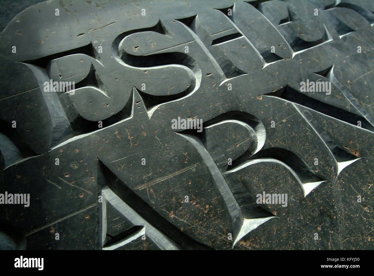 Gabriel Hummerstone, a stone letter carver Stock Photo