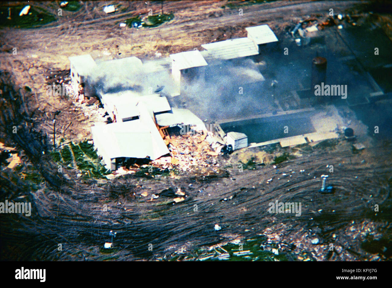 McVeigh and Nichols cited the federal government's actions against the Branch Davidian compound in the 1993 Waco Stock Photo