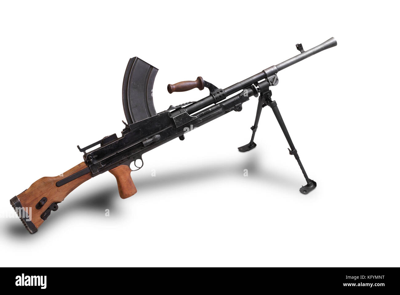 Great Britain at the WW2. Light machine gun Bren Mk1 (from Brno, the Czechoslovak city of design, and Enfield, the - Stock Image