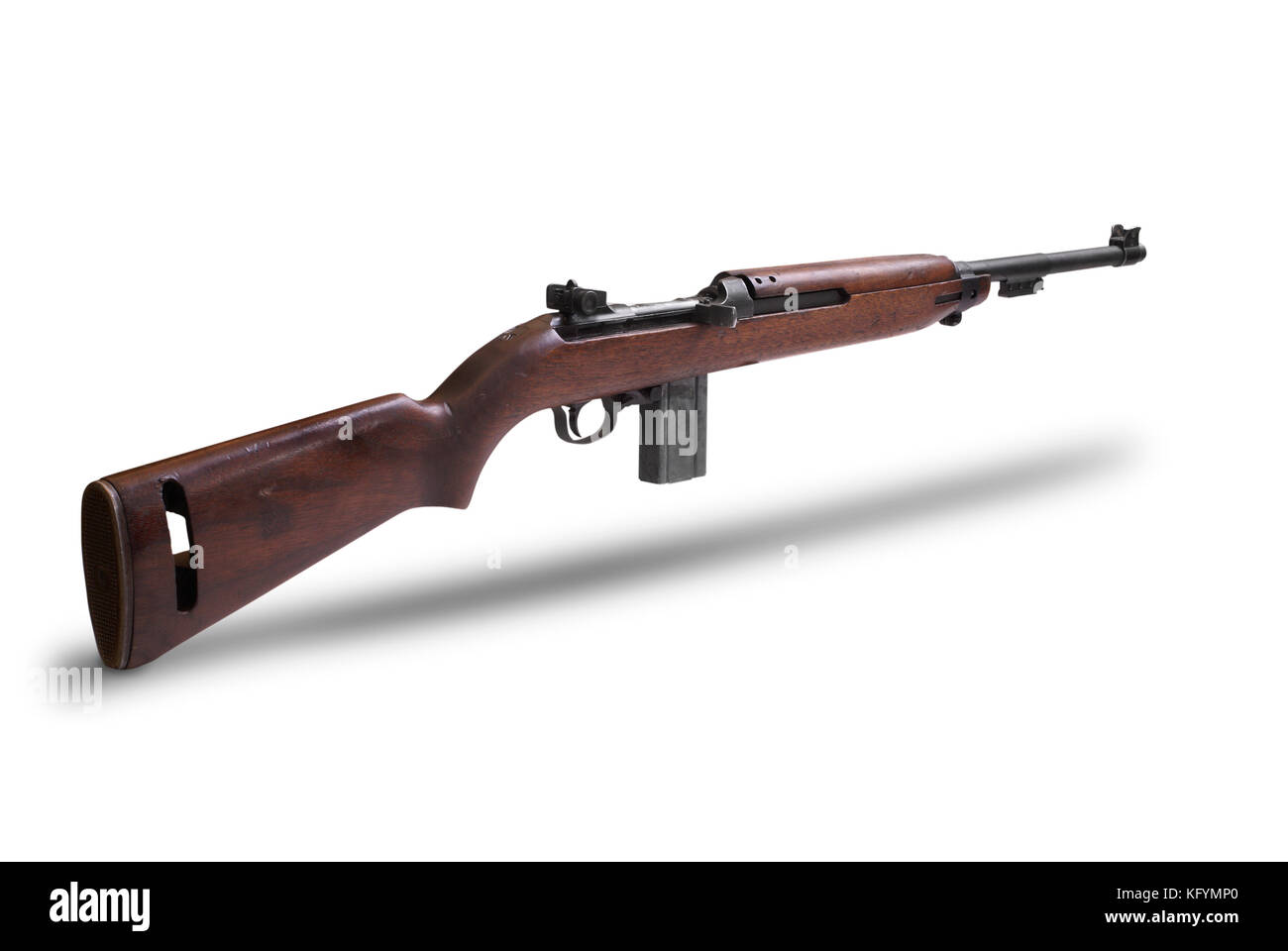 USA at the WW2. American M1 Carbine is a lightweight semi-automatic carbine that became a standard firearm in the - Stock Image