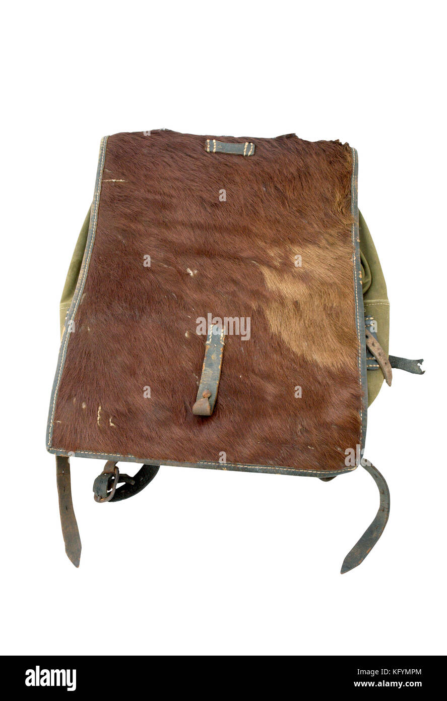 Germany at the WW2 German marching soldier haversack (backpack). - Stock Image