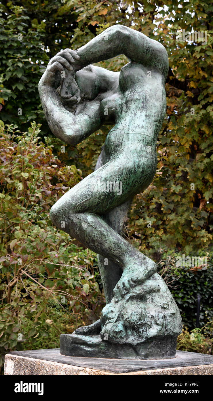Meditation or the Inner Voice, with Arm 1900 François Auguste René Rodin 1840 –1917 ( known as Auguste - Stock Image