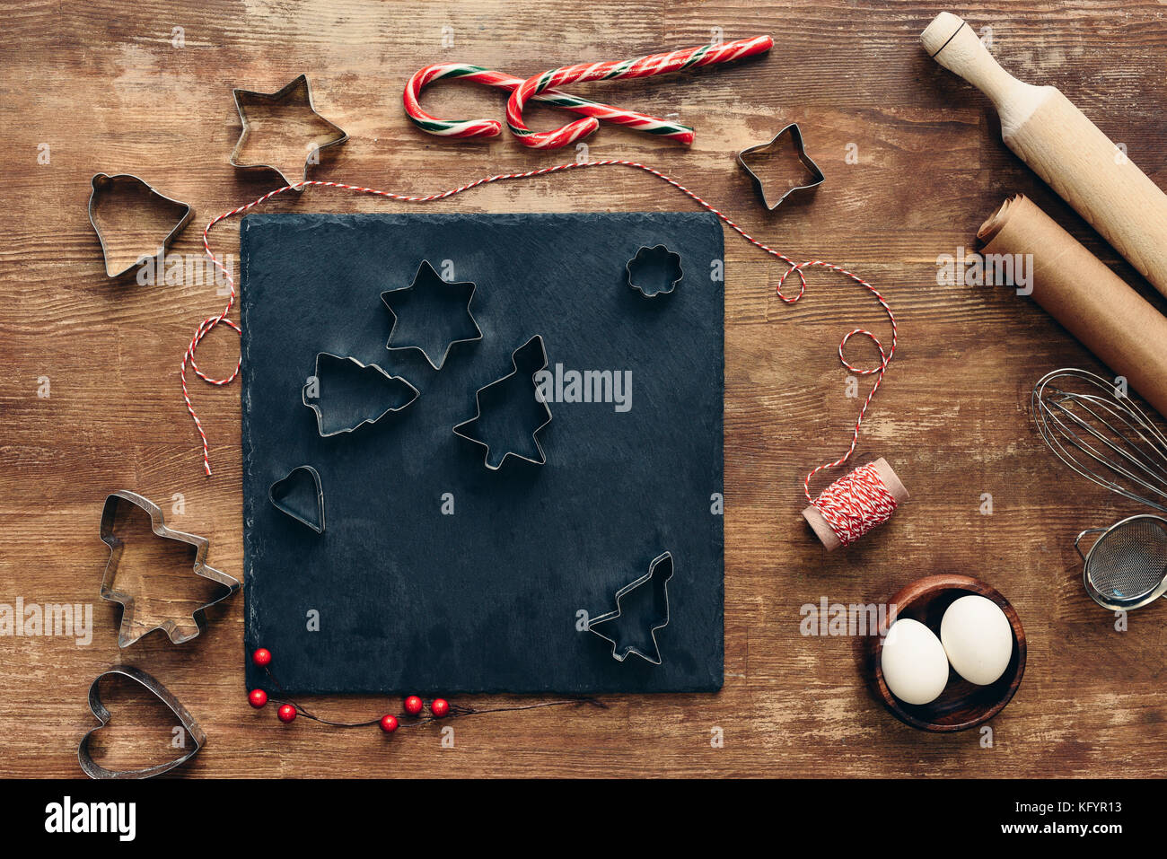 forms for christmas cookies - Stock Image