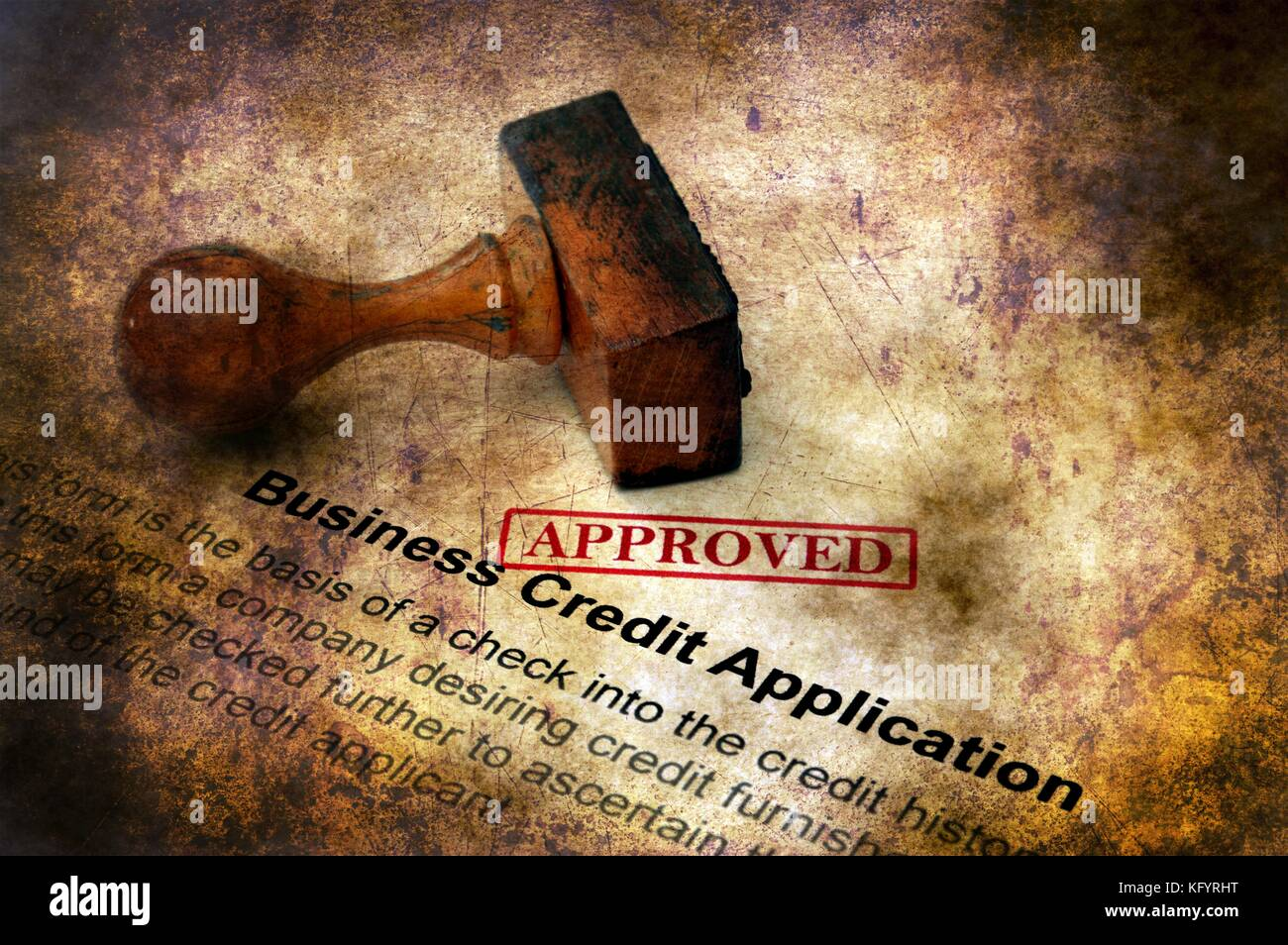 Business credit card application grunge stock photos business business credit application approved stock image reheart Gallery