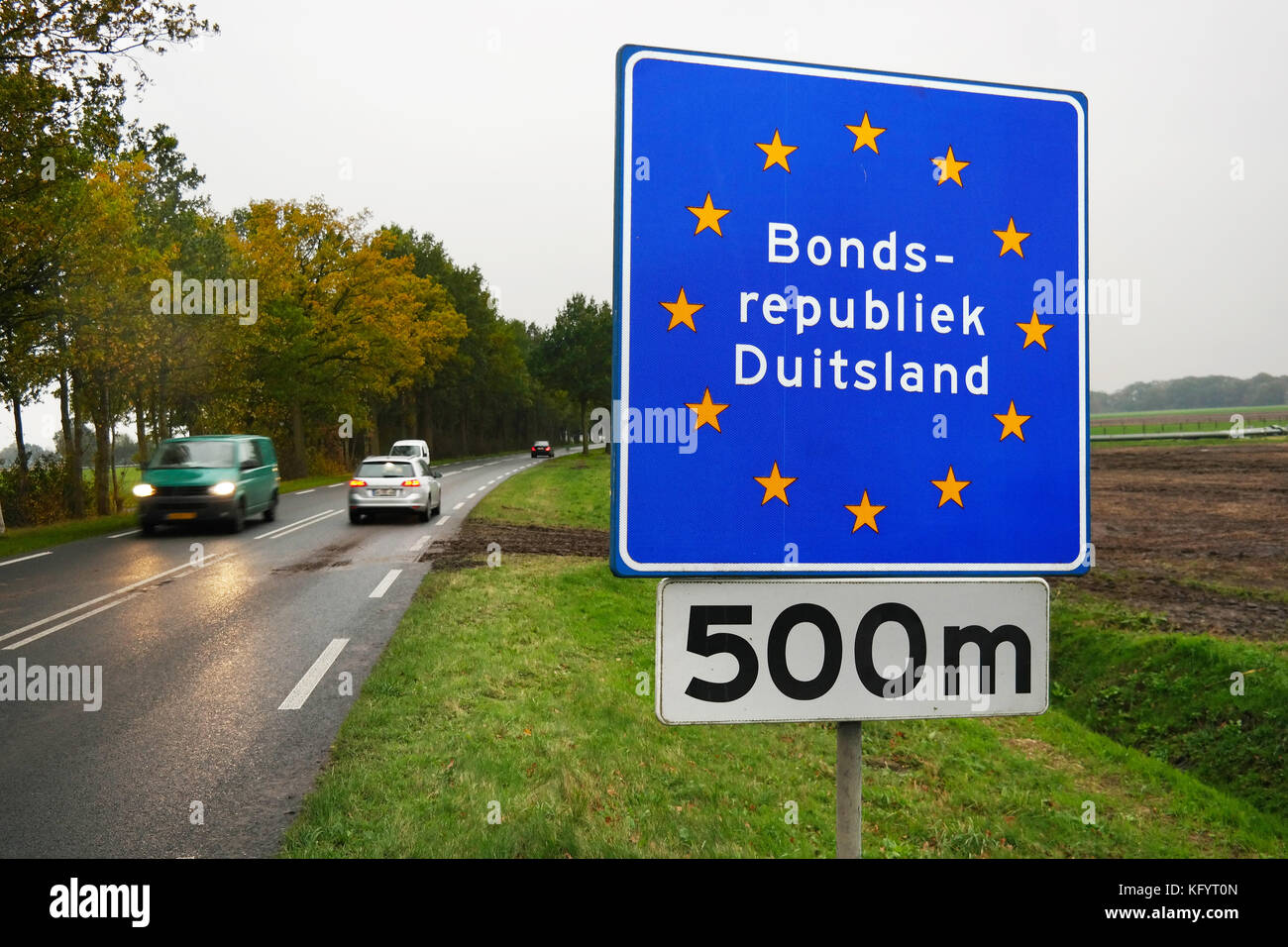 Border sign - Stock Image