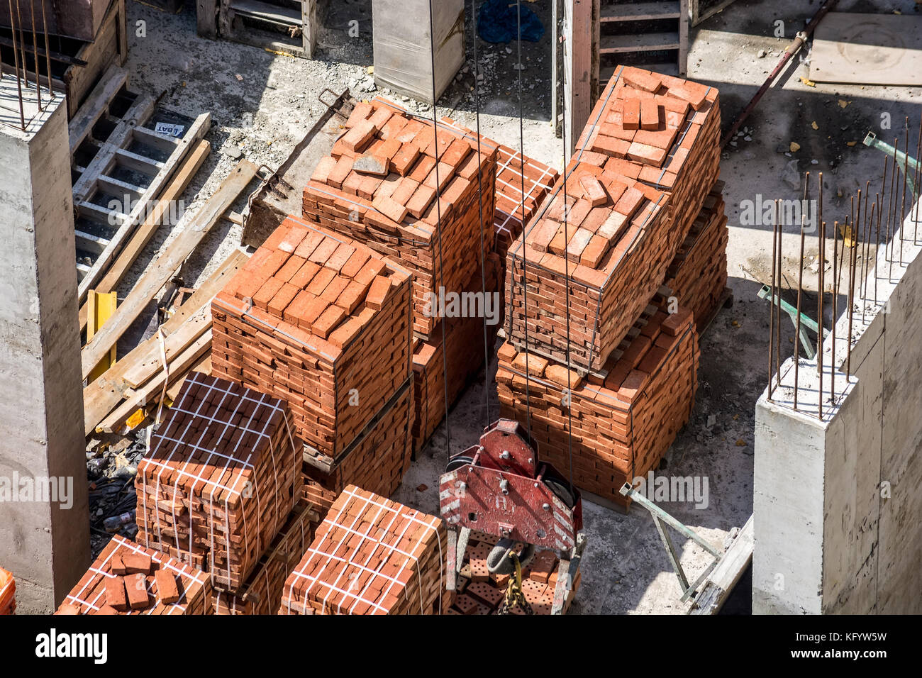 Construction site of new building - Stock Image