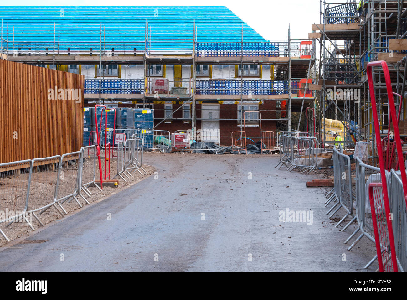 New houses being built for the rental market, Middleton,Rochdale, Greater Manchester, England, UK. Stock Photo