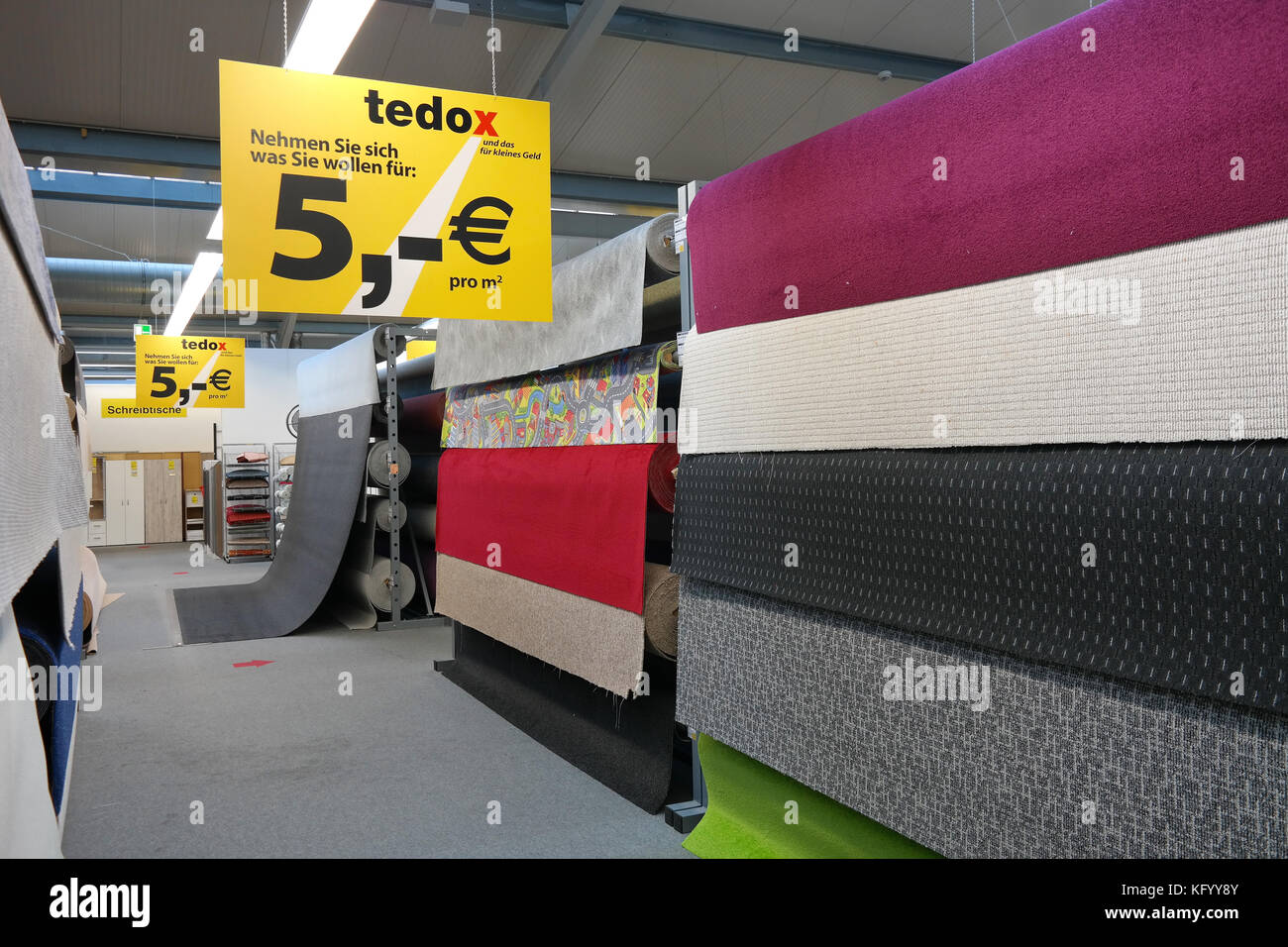 Interior of a Tedox store - Stock Image