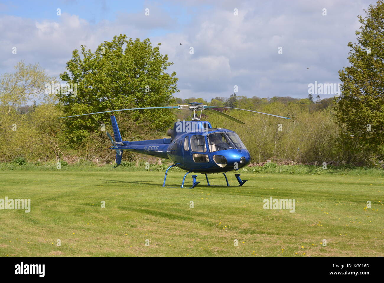 1985 Aerospatiale AS-350B Ecureuil helicopter - Stock Image