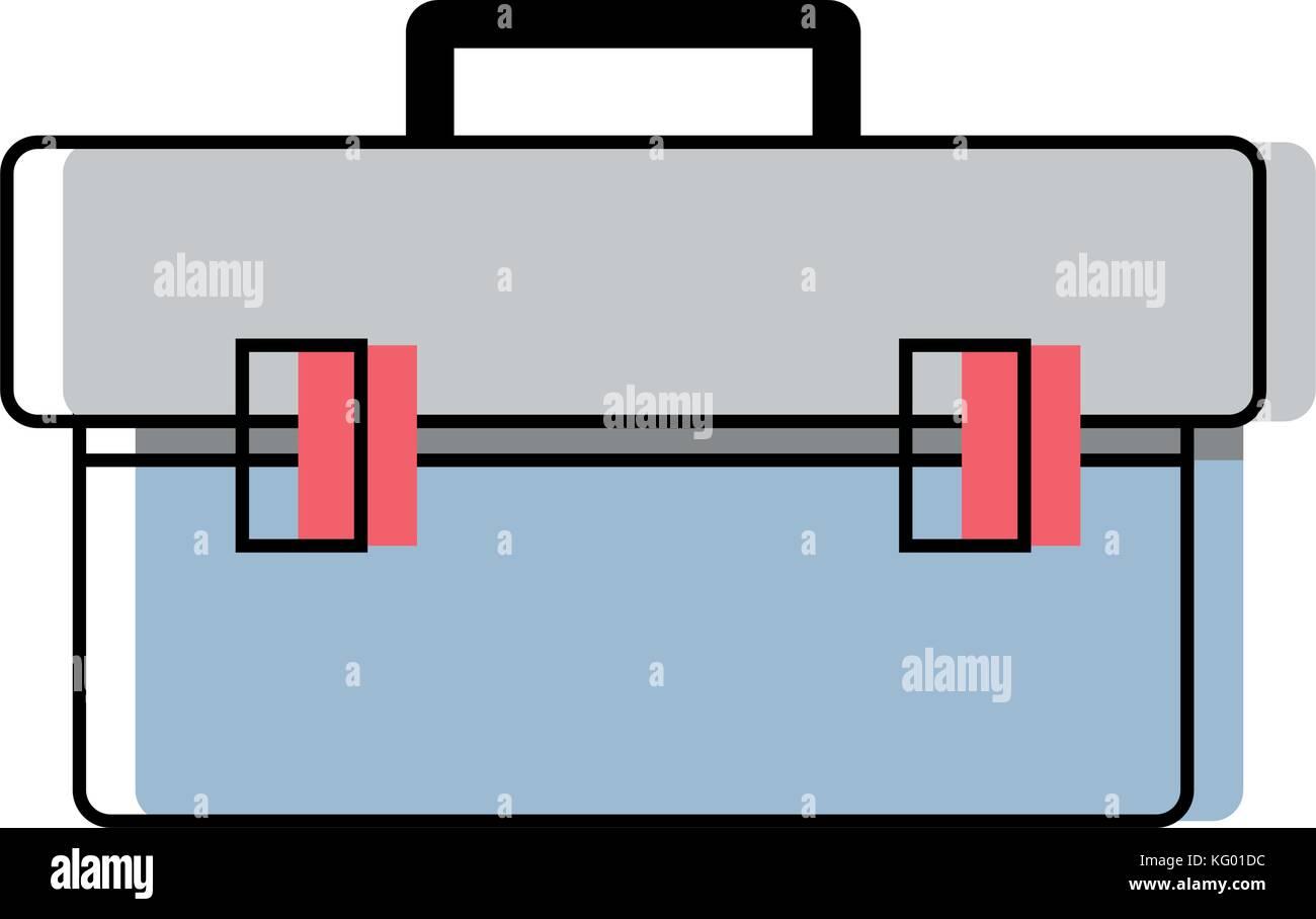 box tool equipment to repair construction - Stock Vector