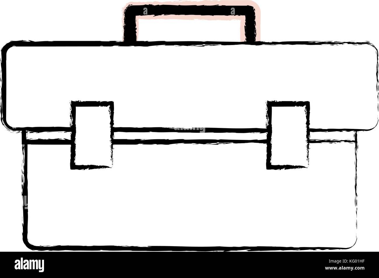 figure box tool equipment to repair construction - Stock Vector