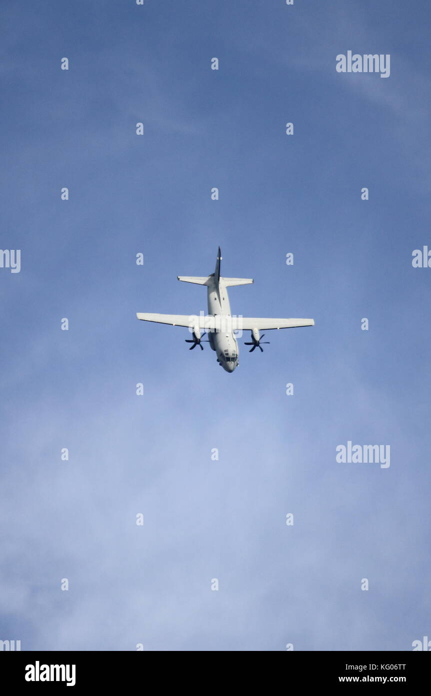ROME - JUNE 29: Italian Air Force Alenia Aermacchi C-27j Spartan performs at the Rome International Air Show on - Stock Image