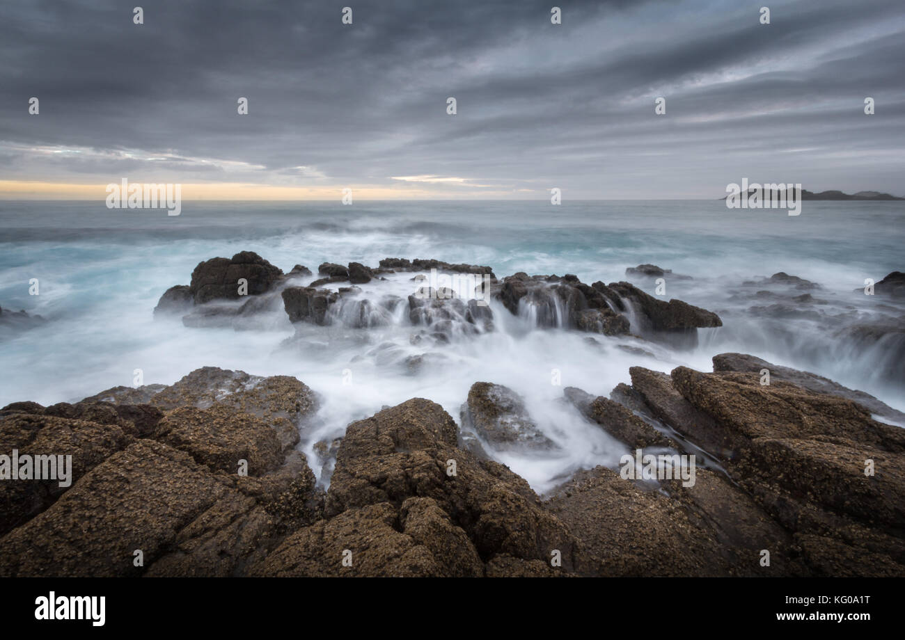 Oceans Beach near Whangarei, New Zealand - Stock Image