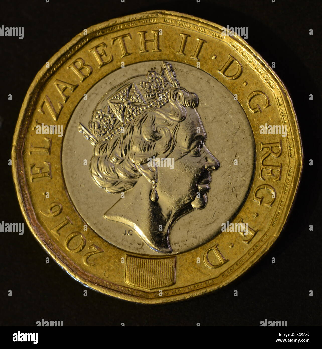 Pound coin - Stock Image