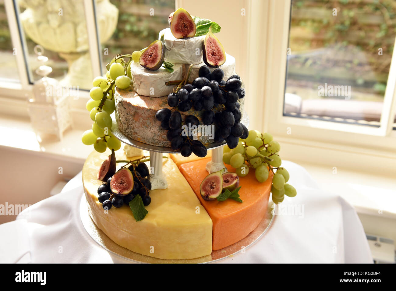 Wedding Cake Made Of Cheeses Stock Photo 164737052 Alamy
