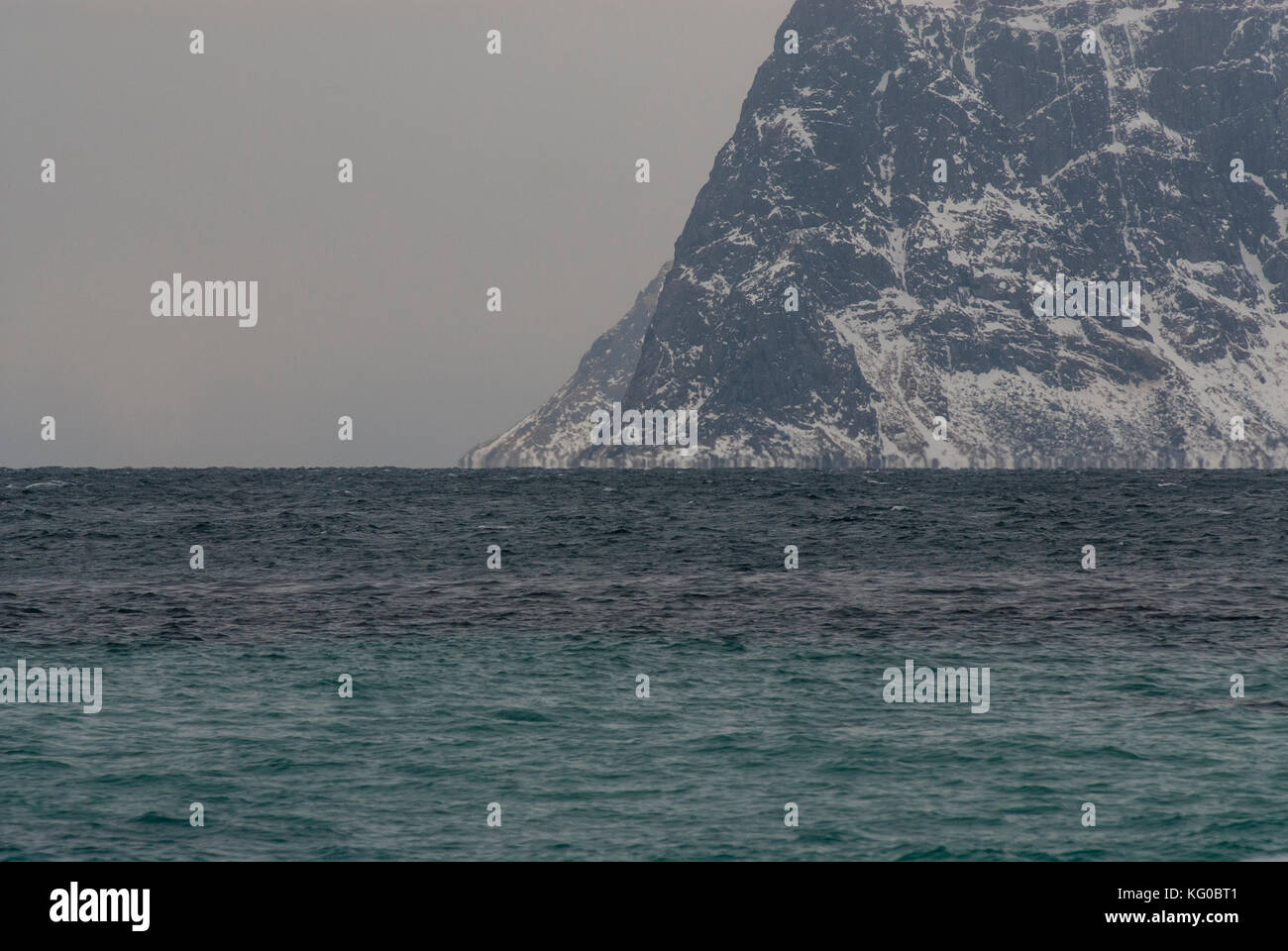Mountains are high and the sea is very deep in this archipelago - Stock Image