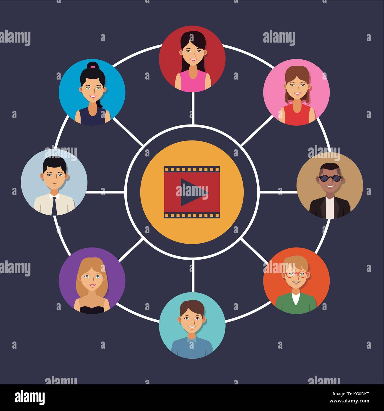 Viral content and social networks - Stock Image