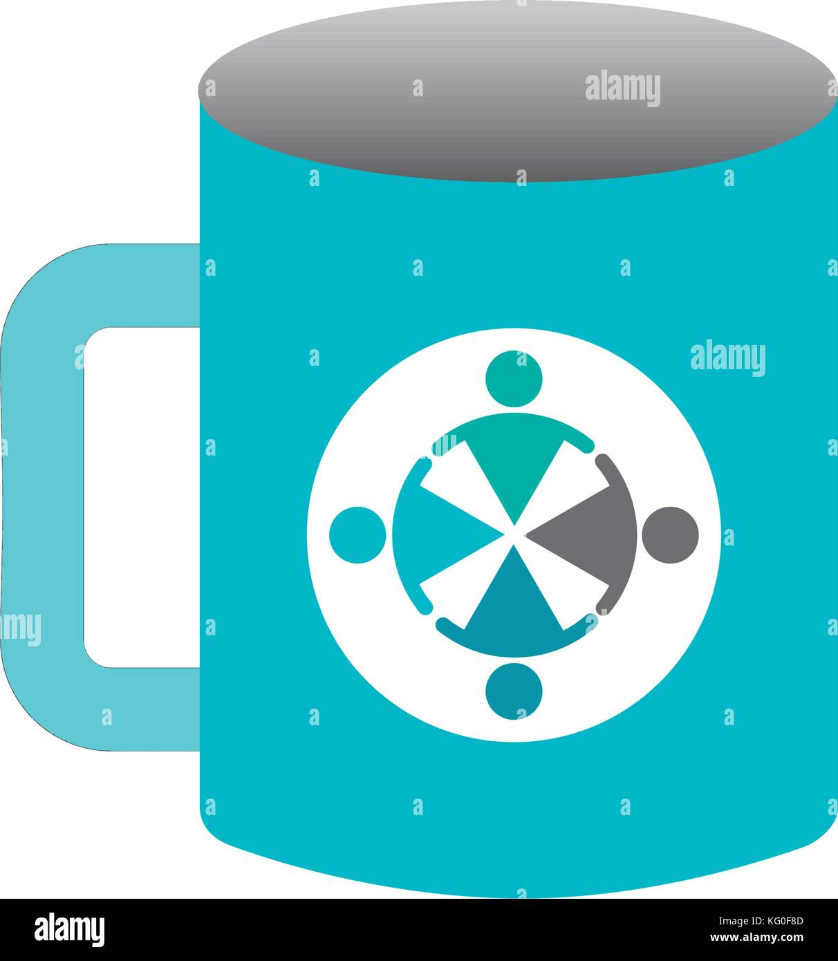 Mockup Of Corporate Ceramic Mug Template For Branding Identity And Stock Vector Image Art Alamy
