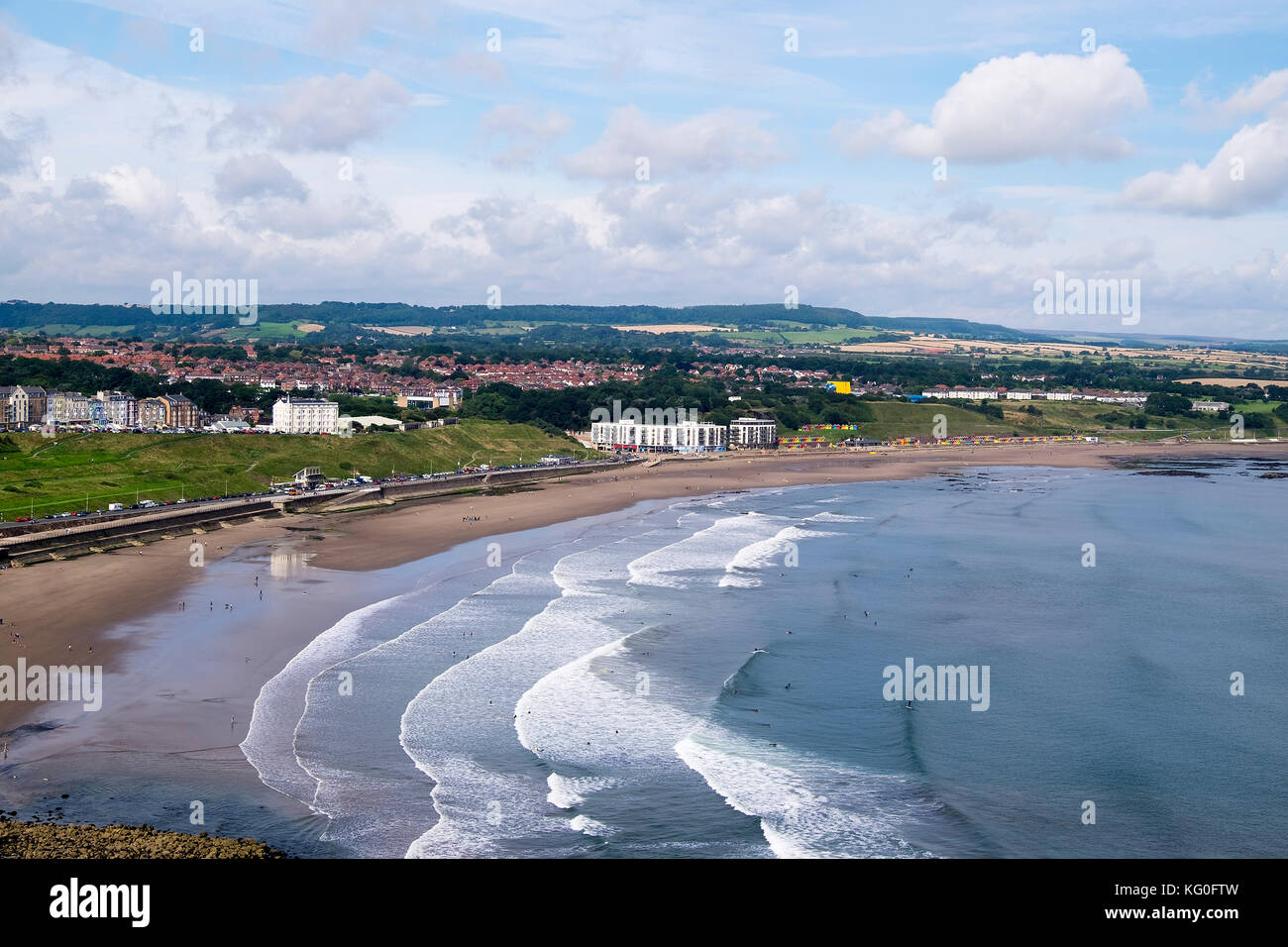 View of Scarborough North Bay, yorkshire uk - Stock Image