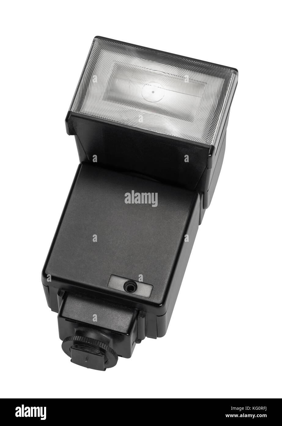 photographic flash unit isolated in white back - Stock Image