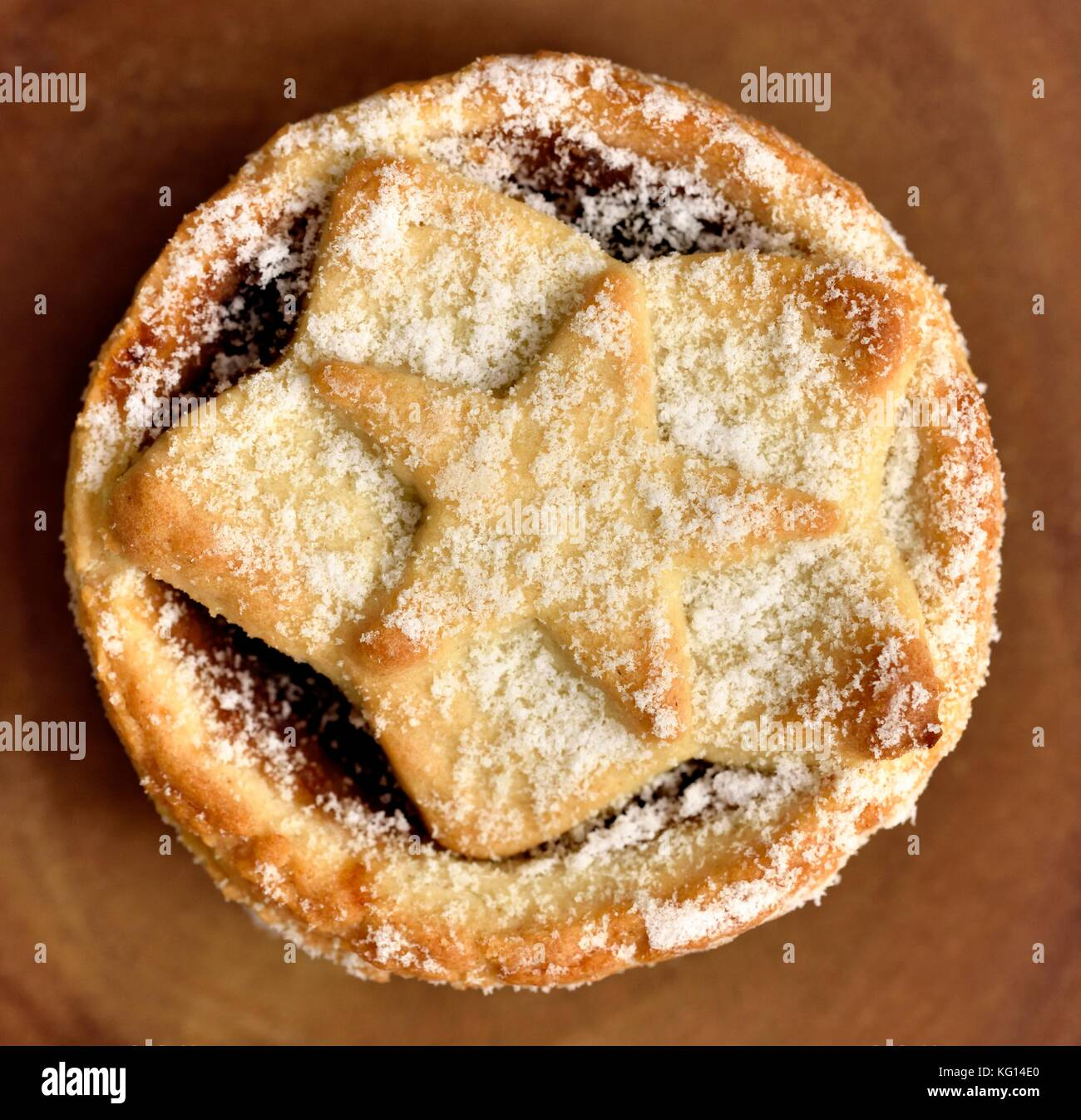 All butter mince pies - Stock Image