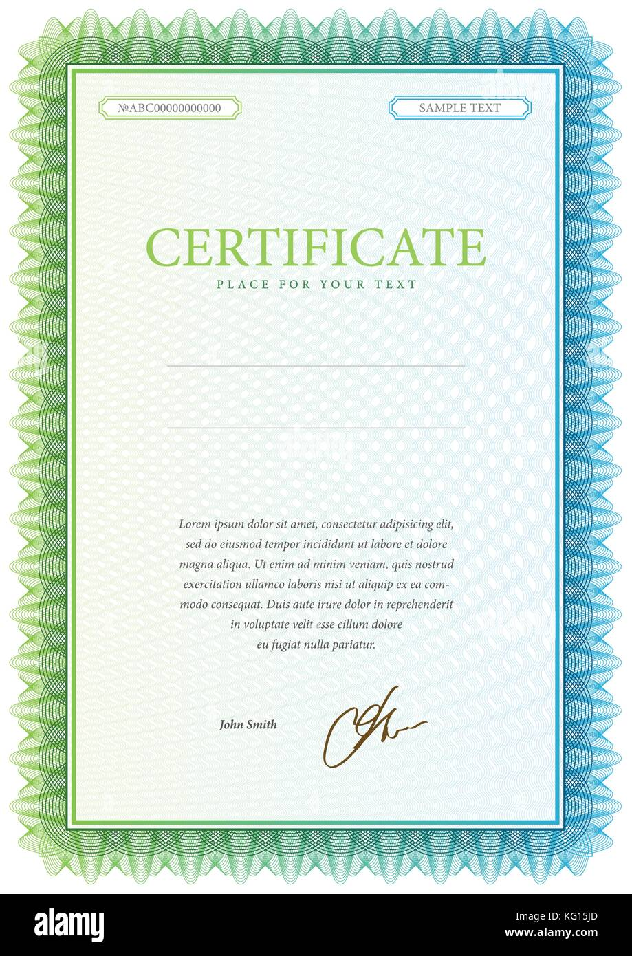 vector pattern that is used in currency and diplomas stock image - Certificate Of Accomplishment Template
