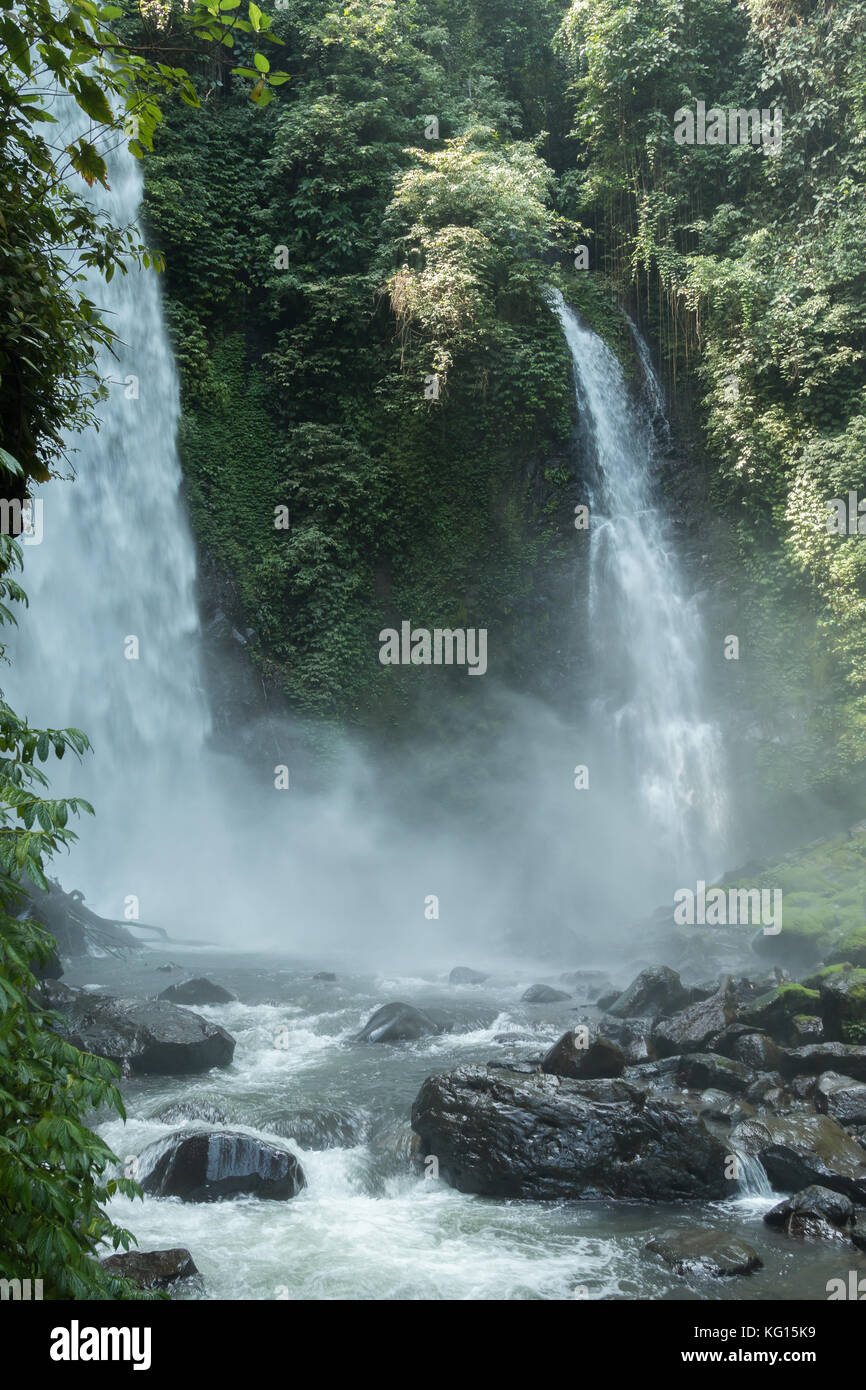 Kali waterfall near Medan, North Sulawesi, Indonesia - a popular tourist destination - Stock Image