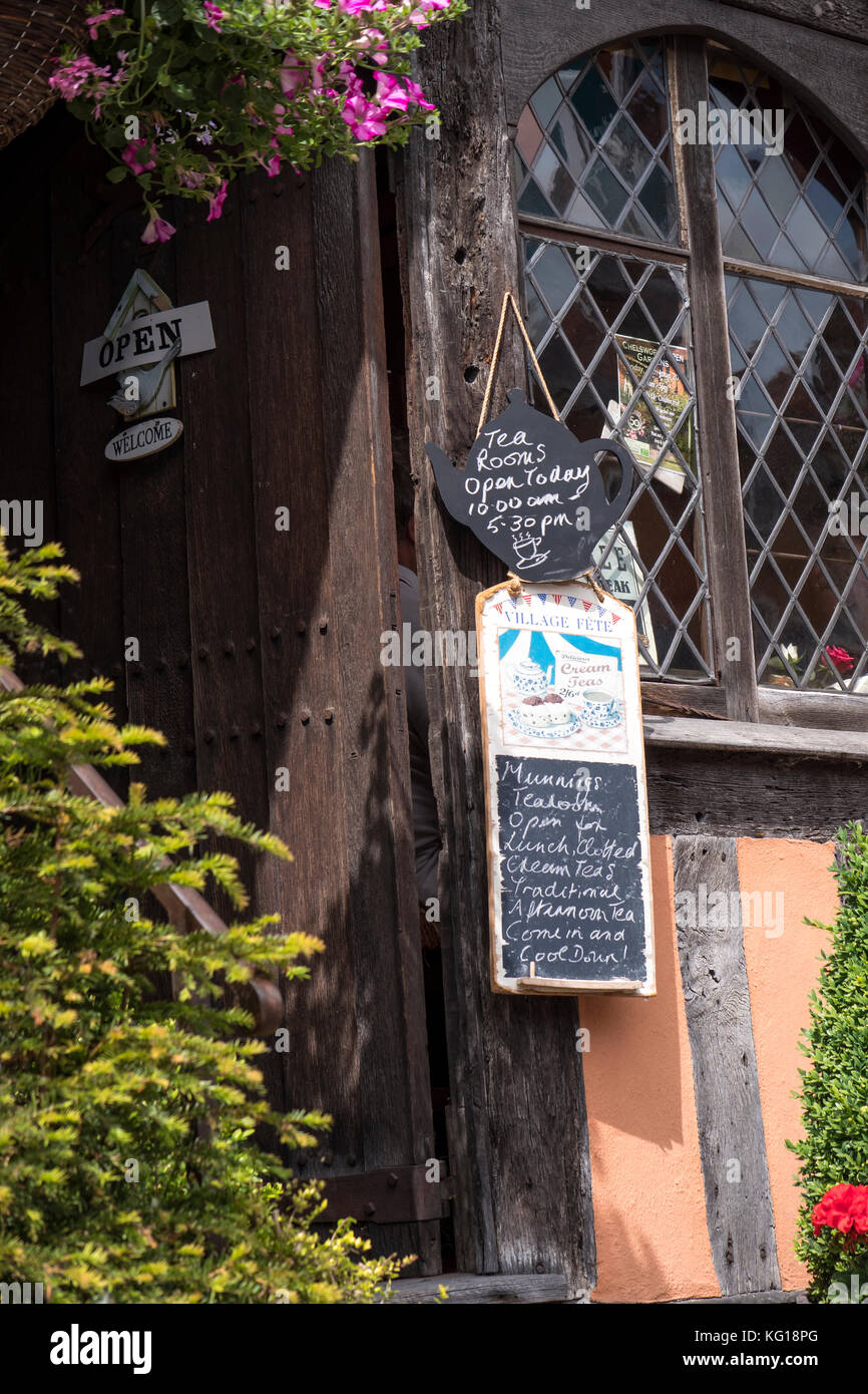 Tea Rooms Lavenham Suffolk England - Stock Image